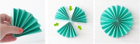 درست کردن کاغذ کشی تزیینی مدل دایره ای برای تم تولد
