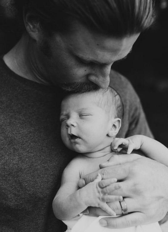 عکس بچه و پدر