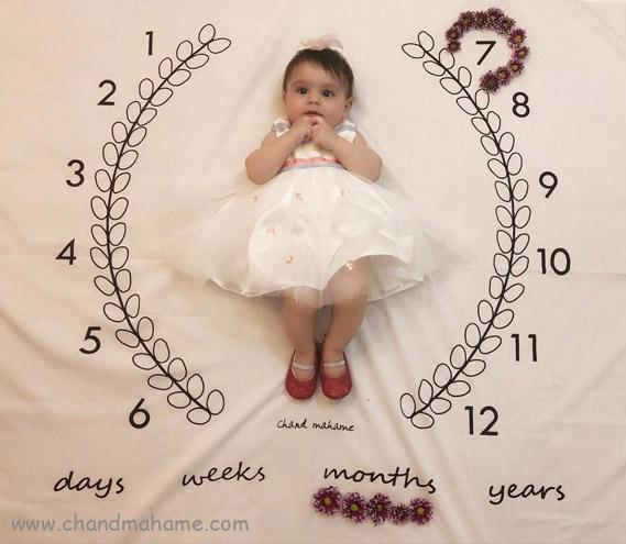 ایده عکس ماهگرد نوزاد هفت ماهه - چندماهمه