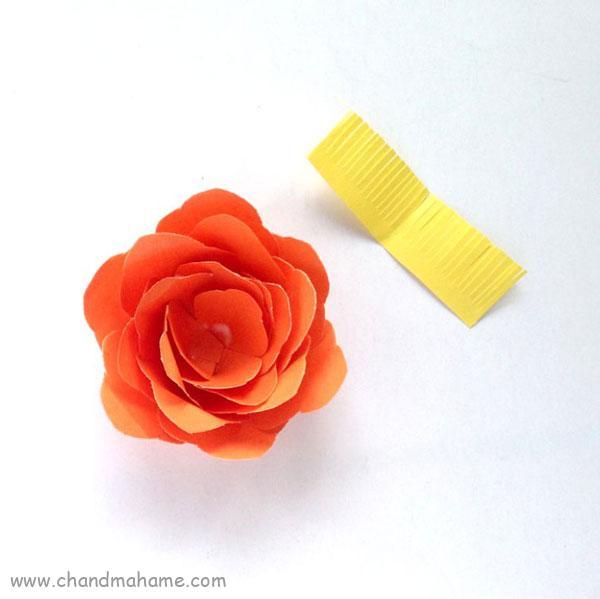 آموزش درست کردن گل کاغذی تزیینی - تم ماهگرد نوزاد - چند ماهمه