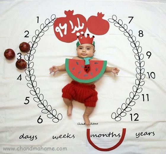 عکس تم ماهگرد نوزاد در سه ماهگی