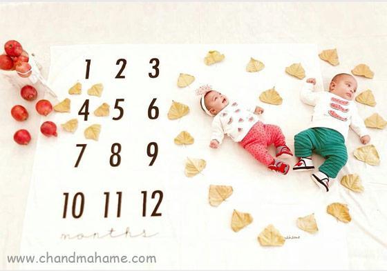 ایده عکس ماهگرد نوزاد در چهار ماهگی - چندماهمه