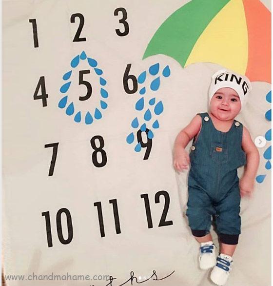 ایده عکس ماهگرد نوزاد در 5 ماهگی - چندماهمه
