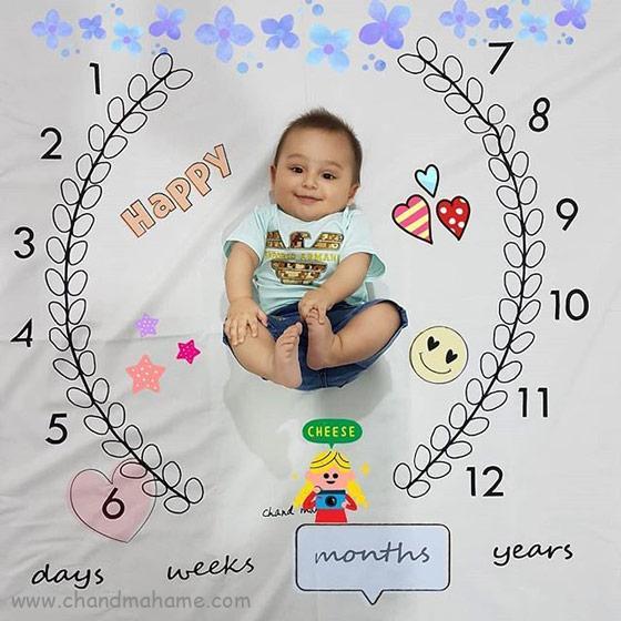 عکس ماهگرد نوزاد در 6 ماهگی - چندماهمه