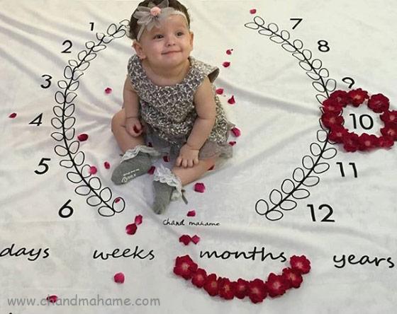 عکس ماهگرد نوزاد در ده ماهگی - چندماهمه