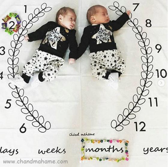 عکس ماهگرد نوزاد در دو ماهگی - چند ماهمه