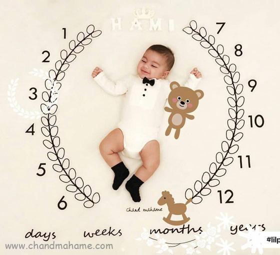 عکس تم ماهگرد نوزاد در سه ماهگی - چندماهمه