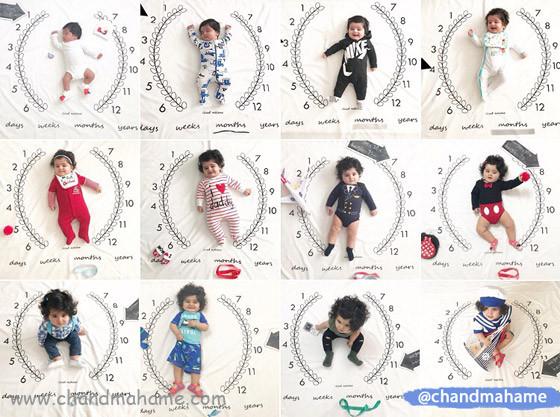 عکس ماهگرد کودک