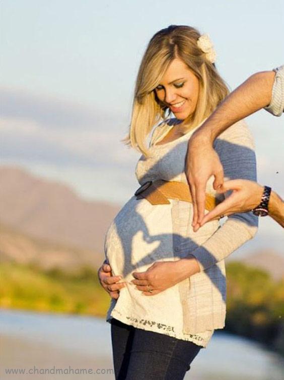 ژست عکس بارداری با همسر مدل خلاقانه - چندماهمه