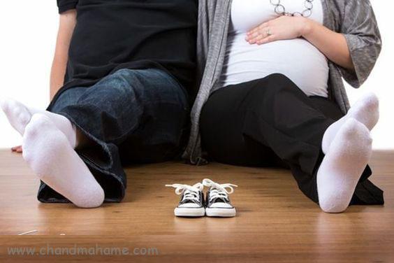 ژست عکس بارداری با همسر مدل انتظار - چندماهمه