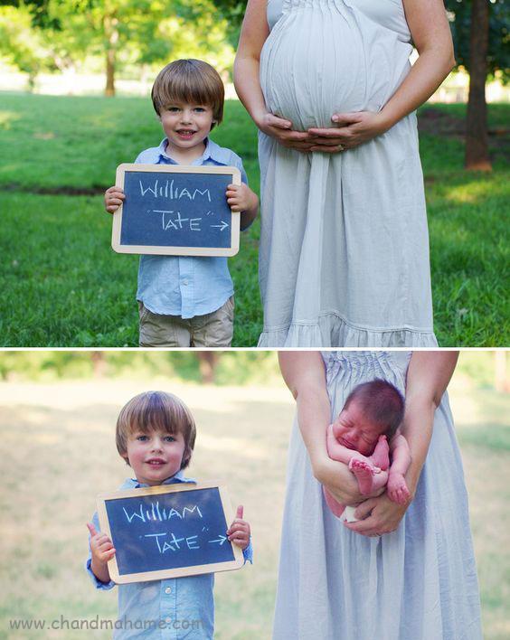 ژست عکس بارداری قبل و بعد از تولد- چندماهمه