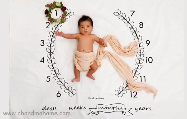عکس ماهگرد نوزاد یک ماهه
