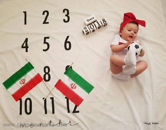 ایده عکس ماهگرد نوزاد هشت ماهه - چندماهمه