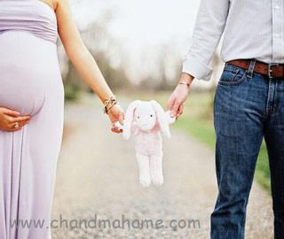 ژست عکس بارداری با همسر - چندماهمه