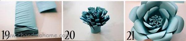 روش درست کردن گل کاغذی فانتزی با الگو- چندماهمه
