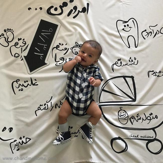 اولین غلتبدن نوزاد در سال اول زندگی - چندماهمه