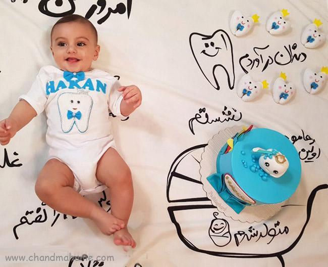 اولین دندان نوزاد در سال اول زندگی - چندماهمه