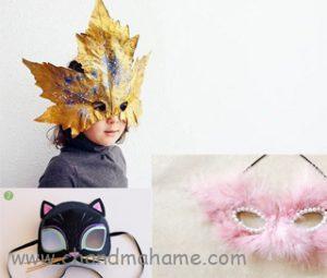 ساخت ماسک کودکانه برای عکس کودک - چندماهمه
