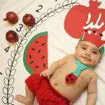 تم یلدا برای عکاسی از نوزاد - چندماهمه