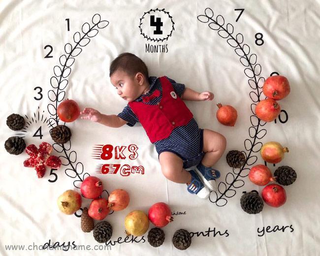 تم شب یلدا برای عکس ماهگرد نوزاد - چندماهمه