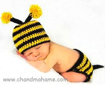 عکس بافت لباس نوزاد مدل زنبوری برای عکاسی - چندماهمه