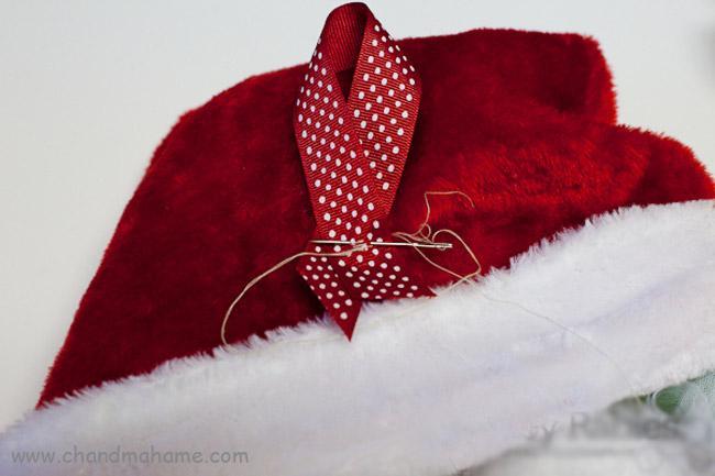 آموزش درست کردن حلقه تزیینی بابانوئل برای تم کریسمس - چندماهمه