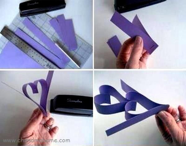 آموزش درست کردن ریسه کاغذی مدل قلب - چندماهمه