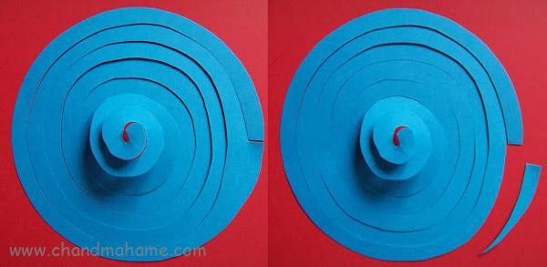 روش درست کردن آویز سقفی با کاغذ - چندماهمه