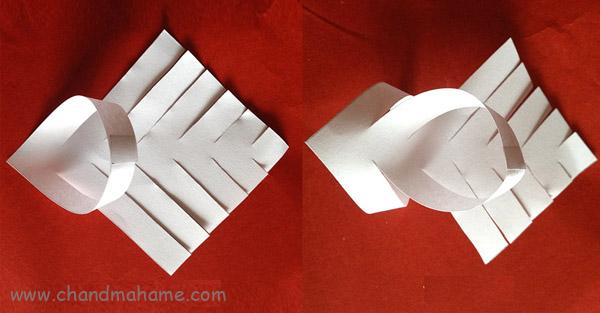 روش درست کردن ریسه کاغذی مدل ستاره شش پر - چندماهمه