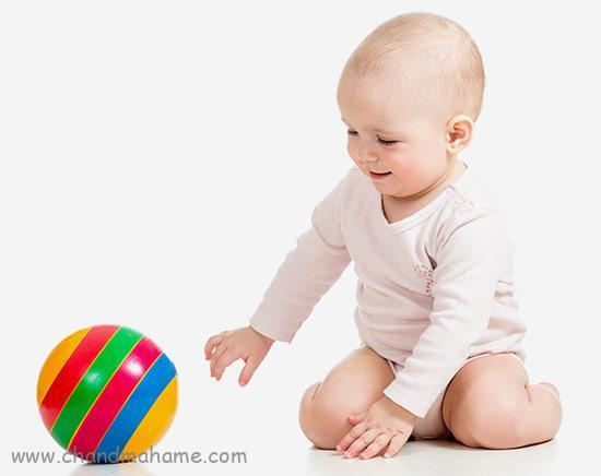 آموزش بازی با نوزاد 6 ماهه و افزایش توانمندی عضلات - چندماهمه