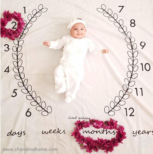 ایده عکاسی از نوزاد با تم بهار - چندماهمه