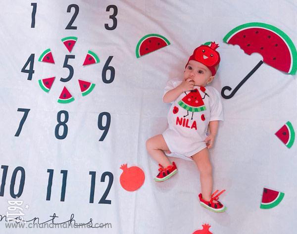 ایده عکاسی از نوزاد با تم یلدا
