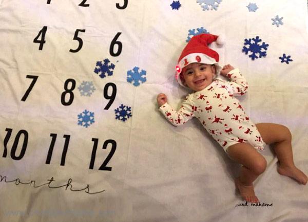 ایده عکاسی از نوزاد با تم کریسمس - چندماهمه