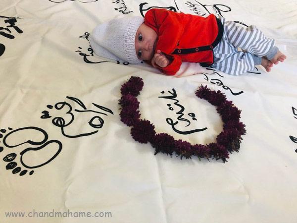 ایده عکس ماهگرد نوزاد در فصل زمستان