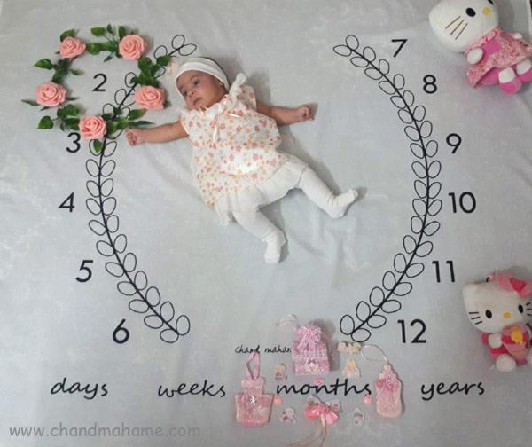 ایده عکس نوزاد با حلقه گل - چندماهمه