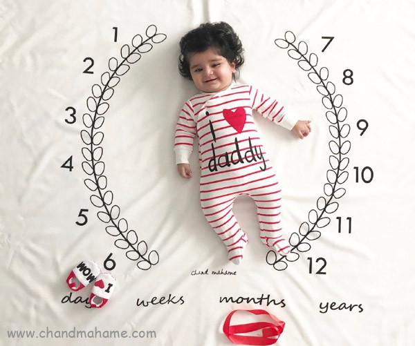 ایده عکس ولنتاین نوزاد با کاغذ و پارچه - چندماهمه