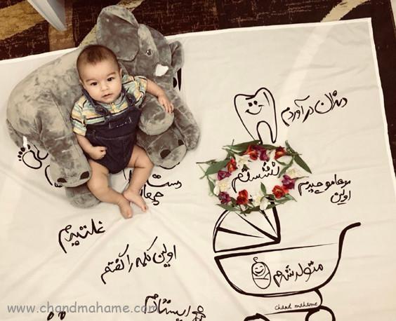 ایده عکس خانگی نوزاد - چندماهمه