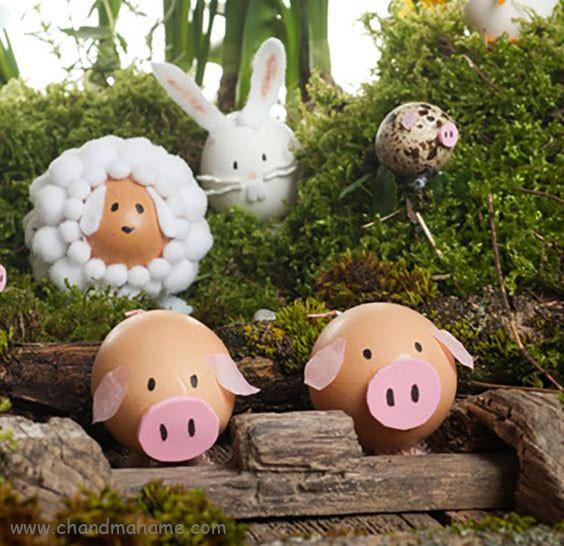درست کردن خوک تخم مرغی برای نوروز 98 - چندماهمه