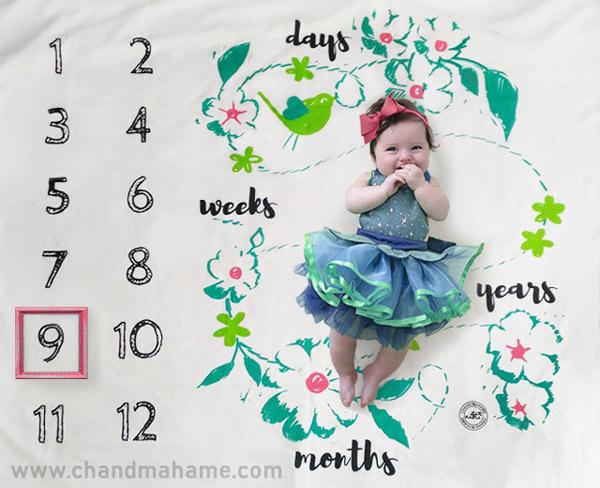 پارچه عکاسی از نوزاد مدل ونوس رنگی