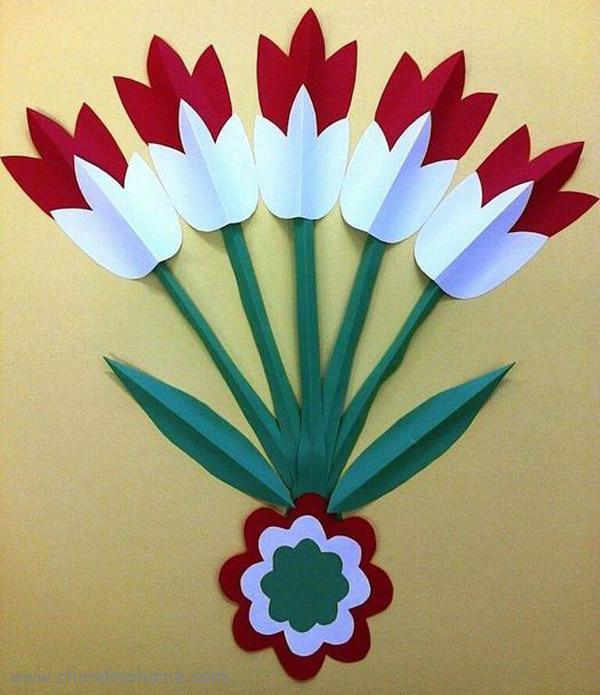 آمورش درست کردن کاردستی گل لاله برای 22 بهمن - چندماهمه