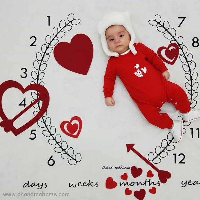 تزیین عکس ولنتاین نوزاد