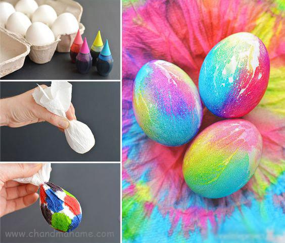 آموزش درست کردن تخم مرغ رنگی با اکلیل - چندماهمه