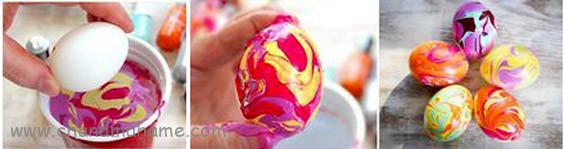 آموزش درست کردن تخم مرغ رنگی با لاک - چندماهمه