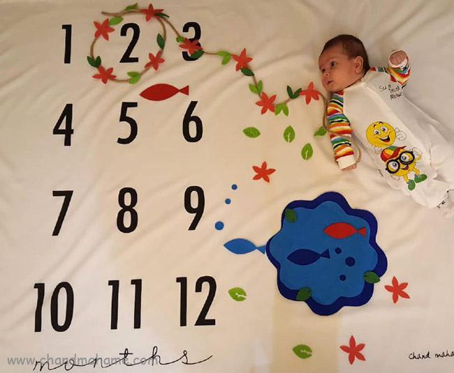 عکاسی از کودک در منزل با تم نوروز و هفت سین - چندماهمه