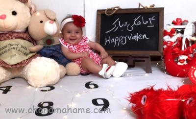 تخته سیاه فانتزی برای عکس خانگی نوزاد