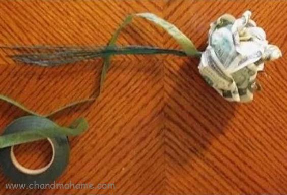 آموزش تزیین اسکناس عیدی به شکل گل رز - چندماهمه