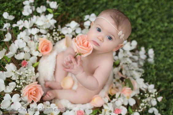 ایده عکاسی از نوزاددر فضای باز و بهار - چندماهمه