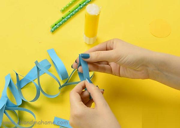 آموزش ساخت گل کاغذی بزرگ مدل صد برگ - چندماهمه