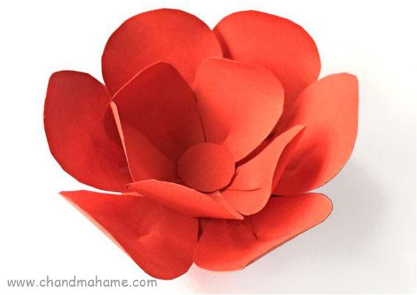 آموزش ساخت گل کاغذی بزرگ برای عکاسی - چندماهمه