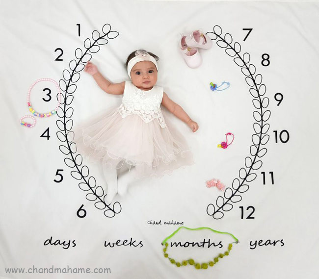 ایده عکاسی از نوزاد دختر - چندماهمه